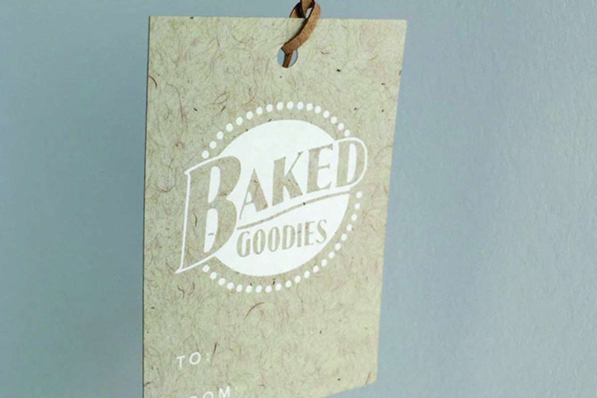 Paper Tags & Foil Stamped Logo