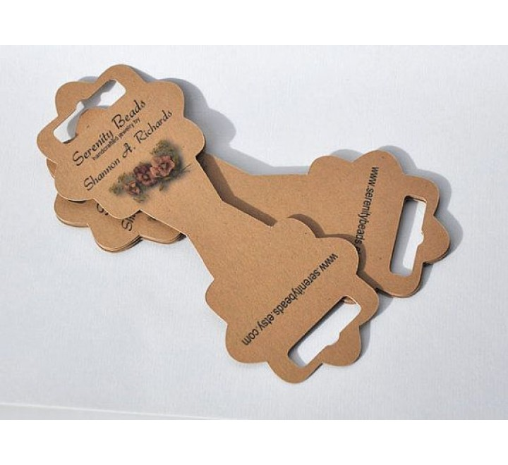 Custom Fold Over Hang Tags