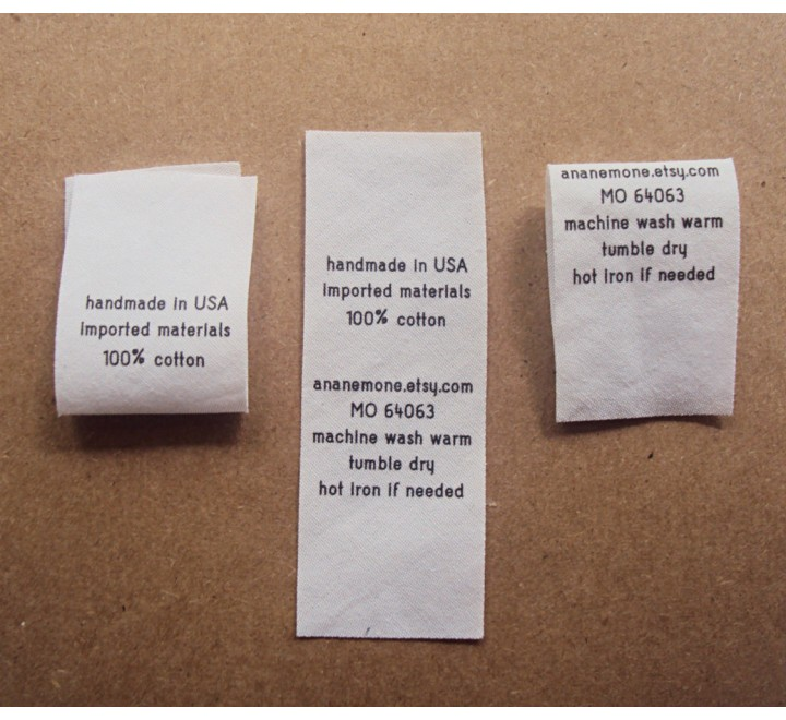 Custom Standard Fold Over Tags