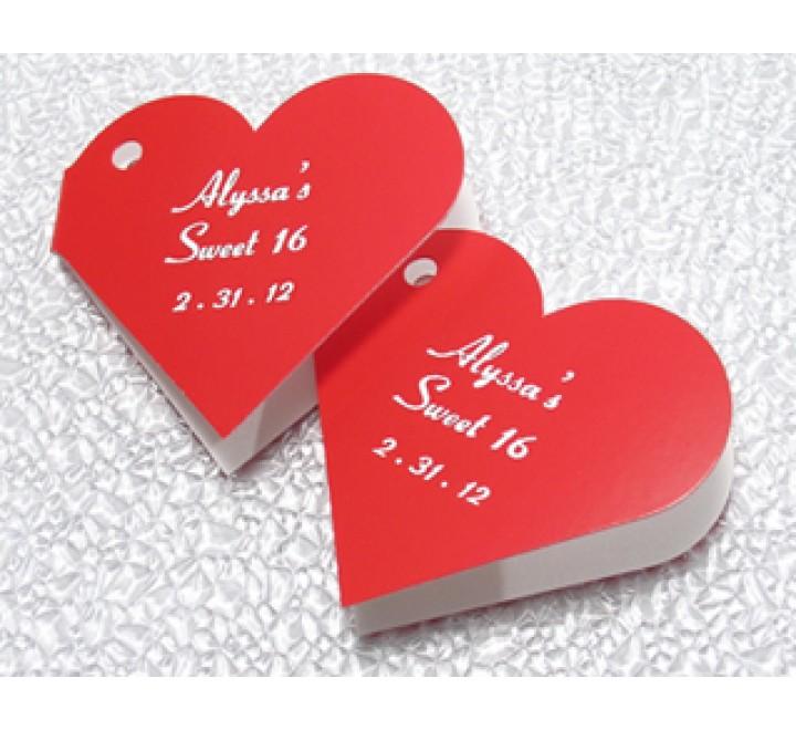 Die cut Mini Heart Tag