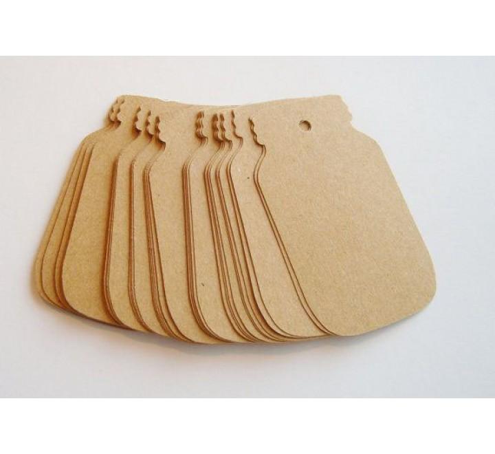 Die cut card hang tags