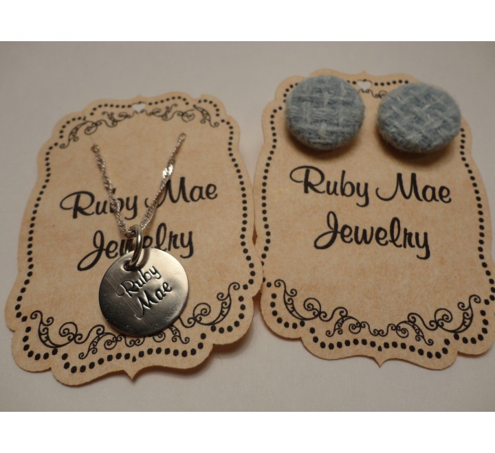 Die cut jewellery Hang Tags