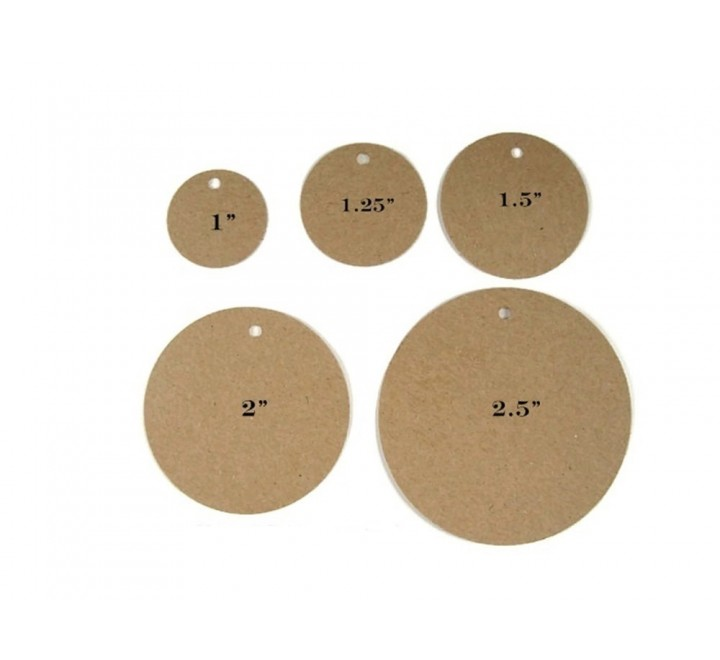 Round Standard Fold Over Tags