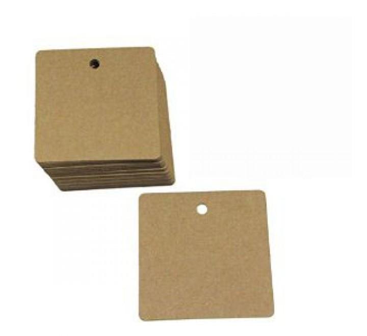 Square Kraft Paper Hang Tags