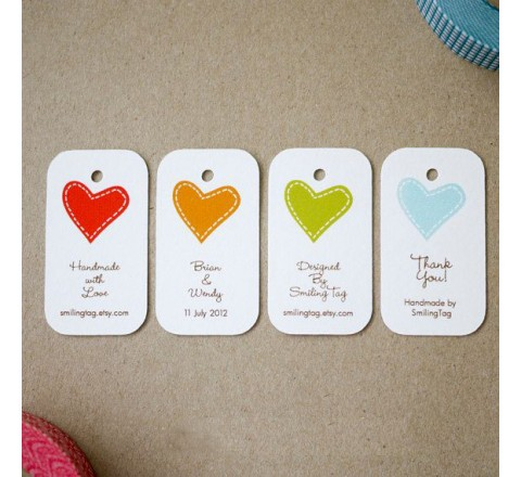 Custom card hang tags