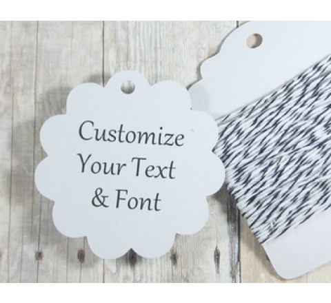 Die cut Rounded Tags