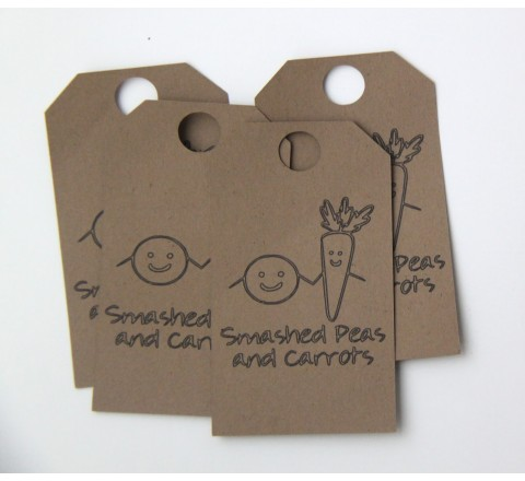 Die Cut Mini Squeeze Tags