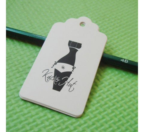 Die cut Apparel Hang Tags
