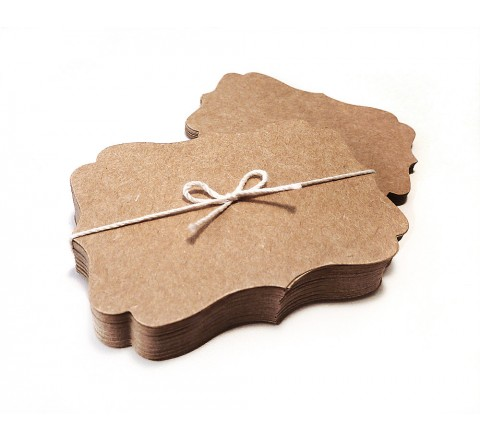 Die cut Elegant Rounded Tags