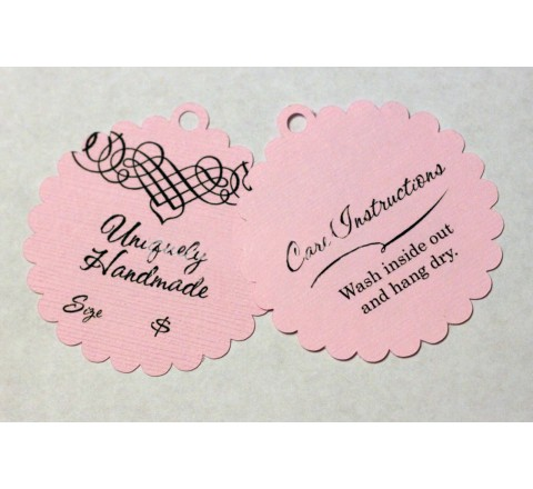 Die cut Bent oval hang tags