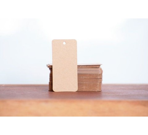 Rectangular card hang tags