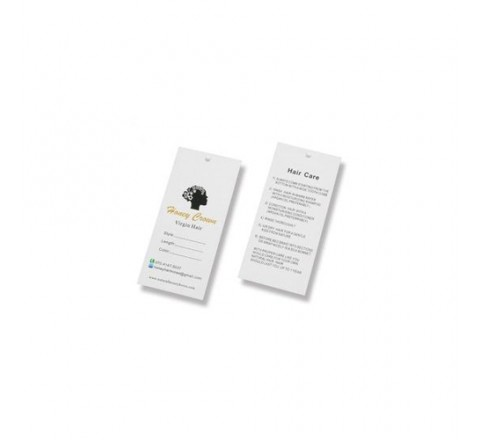 Rectangular Hair Serum Hang Tags