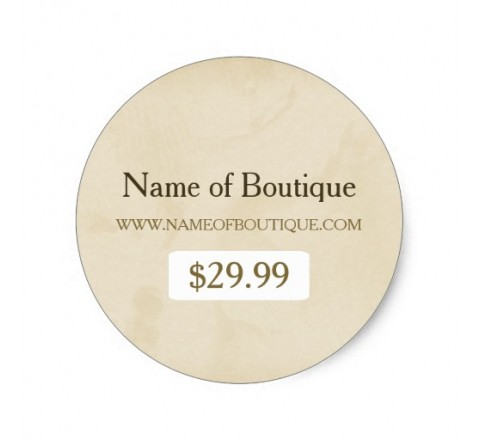 Round Boutique Tags