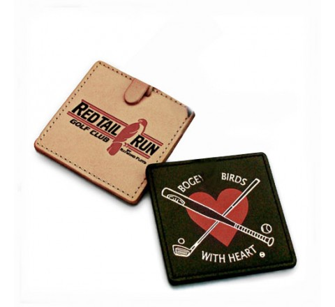 Square Leather Hang Tags