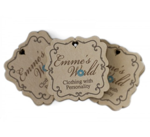 Square jewellery Hang Tags